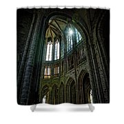 Abbey With Heavenly Light Shower Curtain