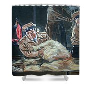 Abbott And Costello Meet Frankenstein Shower Curtain