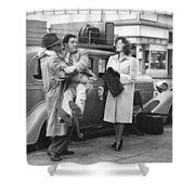 Abbott And Costello Shower Curtain