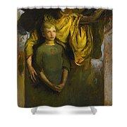 Abbott Handerson Thayer 1849 - 1921 Boy And Angel Shower Curtain