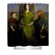 Abbott Handerson Thayer - Mother And Children Shower Curtain