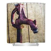Abbott's Mill Water Spigot Shower Curtain