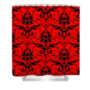 Abby Damask In Black Pattern 02-p0113 Shower Curtain