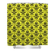 Abby Damask In Black Pattern 05-p0113 Shower Curtain