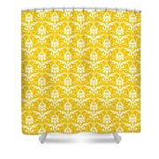Abby Damask In White Pattern 05-p0113 Shower Curtain