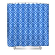 Abby Damask In White Pattern 18-p0113 Shower Curtain