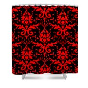 Abby Damask With A Black Background 02-p0113 Shower Curtain