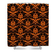 Abby Damask With A Black Background 03-p0113 Shower Curtain