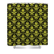 Abby Damask With A Black Background 05-p0113 Shower Curtain
