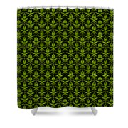 Abby Damask With A Black Background 09-p0113 Shower Curtain