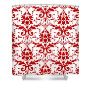 Abby Damask With A White Background 02-p0113 Shower Curtain
