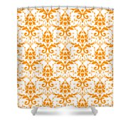 Abby Damask With A White Background 03-p0113 Shower Curtain