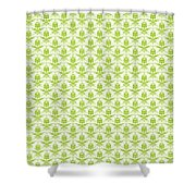Abby Damask With A White Background 09-p0113 Shower Curtain