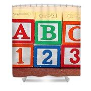 Abc 123 Shower Curtain