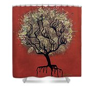 Abc Tree Shower Curtain