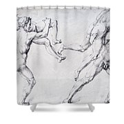 Abduction Of A Woman Rape Of The Sabine Women 1495 Shower Curtain