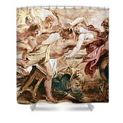 Abduction Of Hippodamia Shower Curtain