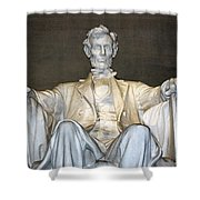 Abe Down To His Knees Shower Curtain