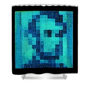 Abe In Aqua Shower Curtain