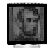 Abe In Black And White Shower Curtain