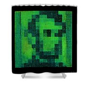 Abe In Green Shower Curtain