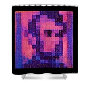 Abe In Hot Pink  Shower Curtain