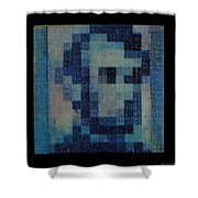 Abe In Light Blue Shower Curtain