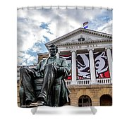 Abe On Bascom Hill Shower Curtain