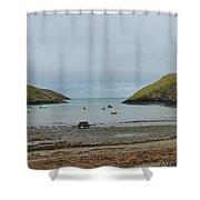 Abercastle Harbor 2 Wales Shower Curtain