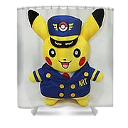 Abhishek Malani - My Favourite Pokemon Shower Curtain