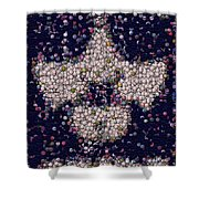 Abide Bottle Cap Mosaic Shower Curtain