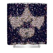 Abide Bottle Cap Mosaic Shower Curtain by Paul Van Scott