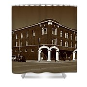 Abilene Kansas - Spruce And 3rd Sepia Shower Curtain