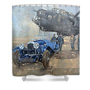 Able Mable And The Blue Lagonda  Shower Curtain