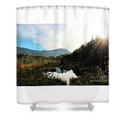 Abol Mt And Round Pond Shower Curtain