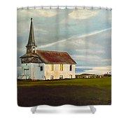 Abondoned Church Shower Curtain