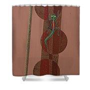 Aboriginal Lizard Shower Curtain