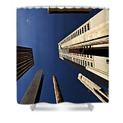 Aboriginal Sound Poles Shower Curtain