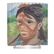 Mujer Indigena Shower Curtain