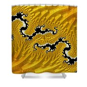 About Mountains And Rivers - Abstract Shower Curtain