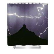 Above And Beyond Pinnacle Peak Shower Curtain