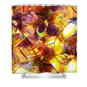 Above And Beyond Scramble Shower Curtain