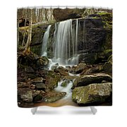 Above Apple Orchard 1 Shower Curtain
