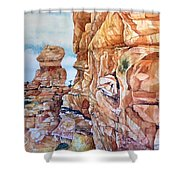 Above Canyonlands Campground Shower Curtain