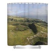 Above Coast Dairies Shower Curtain