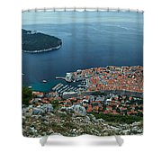 Above Dubrovnik - Croatia Shower Curtain