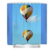 Above One Another Shower Curtain