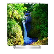 Above Onionta Falls Shower Curtain