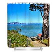 Above San Francisco Bay Shower Curtain