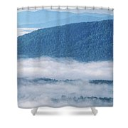 Above The Clouds Panoramic Shower Curtain